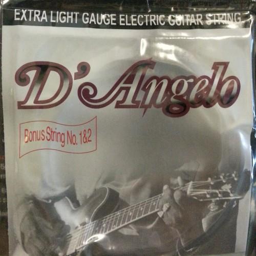 Foto Produk Senar Gitar Elektrik D'Angelo Extra Light Gauge 08-38 dari NEO MUSIC