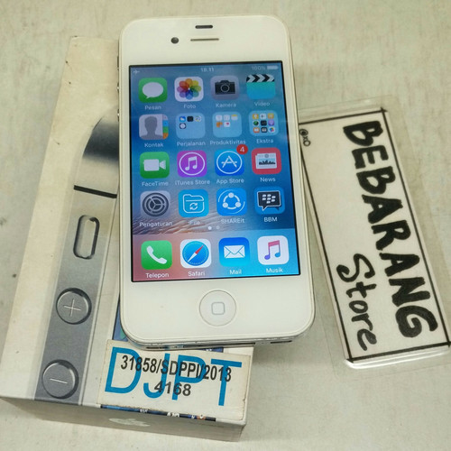 Foto Produk iphone 4S 32GB bekas seken no samsung j 5 7 pro prime oppo vivo xiaomi dari bebarangan store