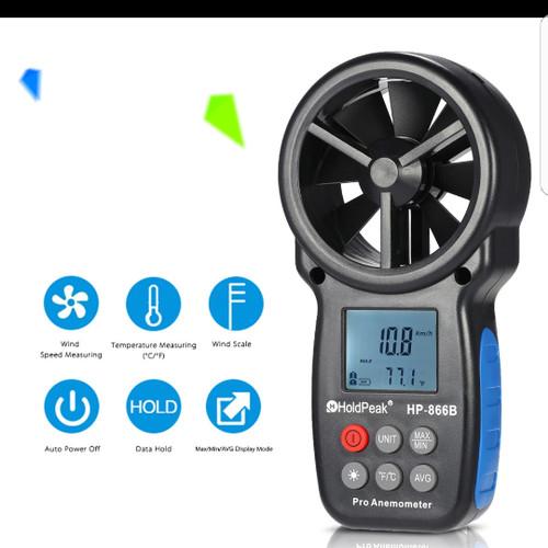 Foto Produk HoldPeak HP-866B Mini LCD Digital Anemometer Wind Speed Air Velocity T dari CICO Store
