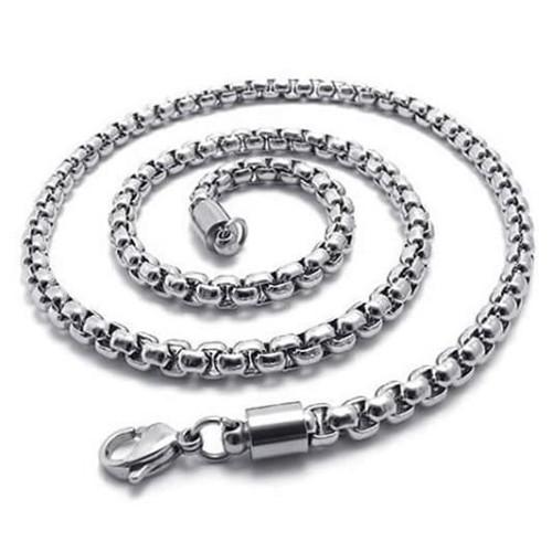 Foto Produk Kalung Titanium Stainless Steel Kotak Silver dari Central Grosir Gemstone