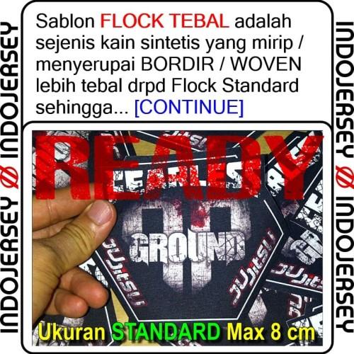 Foto Produk Stiker Baju CUSTOM LOGO FLOCK TEBAL dari Indojersey Official Store