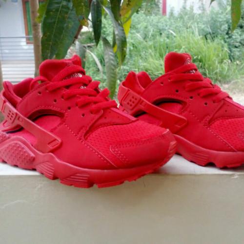 Sepatu Nike Huarache Kids Anak Original All Red