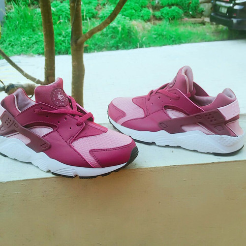 Sepatu Nike Huarache Kids Anak Original White Pink