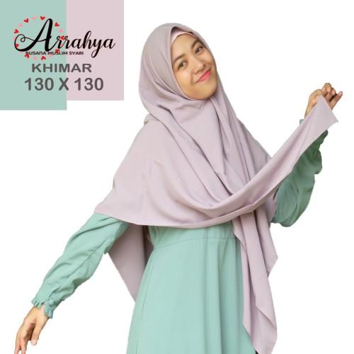 Foto Produk jilbab segi empat 130 x 130 Wolfis premium - Putih dari hijabarrahya