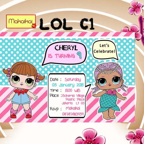 Foto Produk Kartu Undangan Invitation Birthday Anak LOL Surprise dari The Kimchi