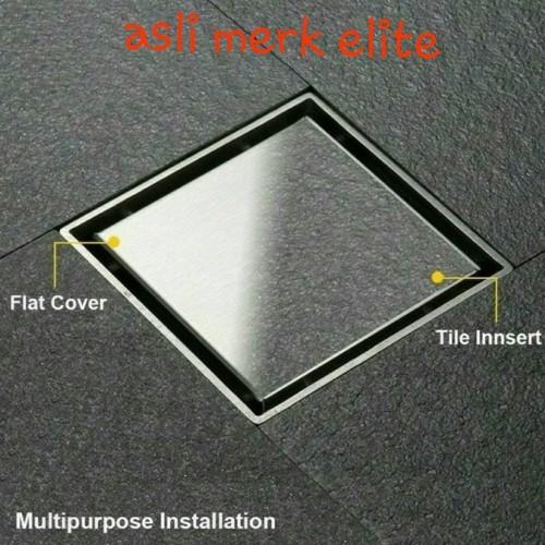 Foto Produk Smart floor drain ELITE E7776 tile insert Elite Anti Serangga / Bau dari Juragan Sanitary