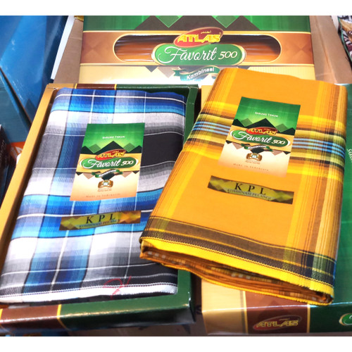 Foto Produk (GROSIR) Sarung Tenun ATLAS FAVORIT 500 Halus Murah (Polos/Kombinasi) dari Jaya Makmur Leo