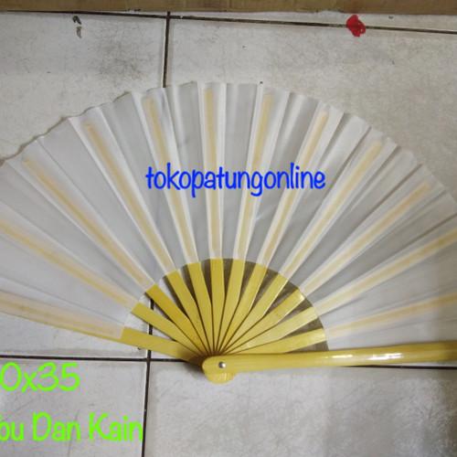 Foto Produk Kipas Tai Chi Polos Putih Bambu dari tokopatungonline