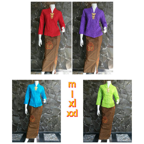 Foto Produk kebaya batik RnB iswara murah ukuran - xxl - Hijau, M dari Simi Fasion Shop