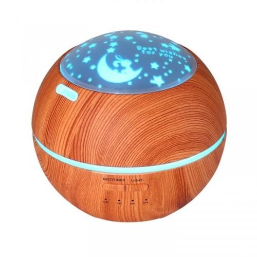 Foto Produk Wooden Romantic Projection Aroma Diffuser Humidifier - 150ml Brown dari Tanaga Online Shop