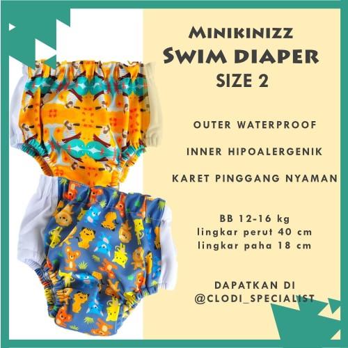 Foto Produk Minikinizz Swim Diaper 12-16kg - Baju Celana Renang Anak Bayi dari Clodi Specialist