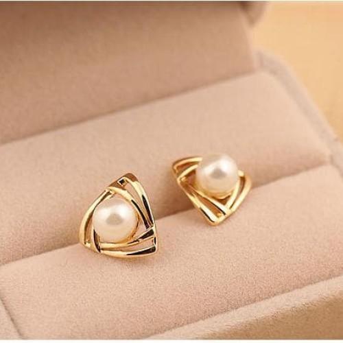 Foto Produk anting mutiara korea pearl earrings korean fashion earring jan117 - gold dari Oila