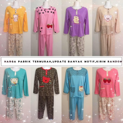 Foto Produk Baju Tidur Kaos bordir/Baby doll/Piyama/Stelan Dewasa PP dari LOVE THE WORLD
