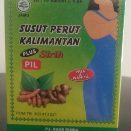 Foto Produk Jamu Susut Perut Kalimantan Plus Sirih Pil 1 Kotak isi 10 Sachet dari ToserbaGrosirOlshop