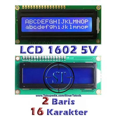 Foto Produk LCD Display 1602 Background Blue Biru Tulisan Putih 16x2 Karakter dari SinarTeknik