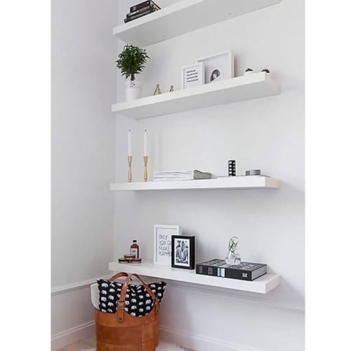 Foto Produk Set Rak Dinding Gantung Melayang 4 Pcs Ukuran 40 40 40 40 cm dari Rak Dinding Decorholic