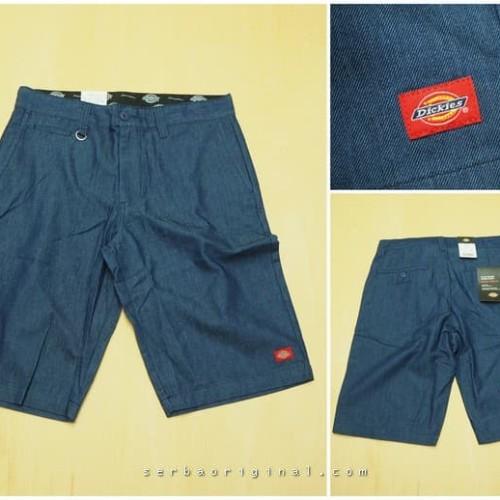 Foto Produk Celana Pendek Dickies Flat Front Work Pant Original - Blue dari Serba Original