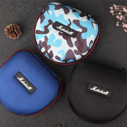 Foto Produk Headphone Headset hard case pouch box for marshall audio technica jbl - BLACK dari docker