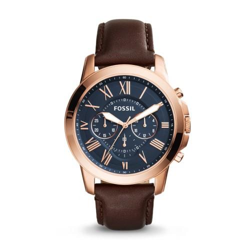 Foto Produk Jam Tangan Pria Fossil GRANT CHRONOGRAPH BROWN LEATHER FS5068 dari Luxolite SG Timepieces