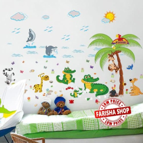 Foto Produk Crocodile Animal Park SK9090 - Stiker Dinding / Wall Sticker dari farisha shop