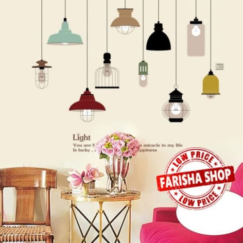 Foto Produk Classic Lamp JM7306 - Stiker Dinding / Wall Sticker dari farisha shop