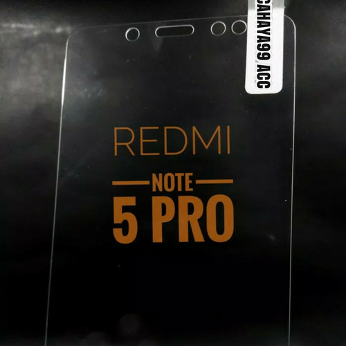 Foto Produk Tempered Glass Xiaomi Redmi Note 5 Pro Anti Gores Kaca (Screen Protect dari Cahaya99 Accessories