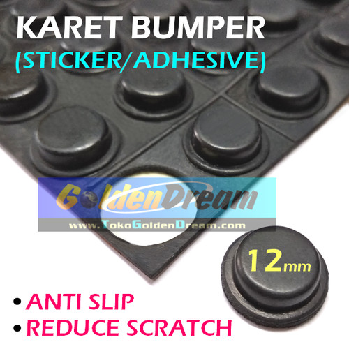 Foto Produk 12mm Karet Bumper Stiker Anti Slip Skid Scratch Sticker Mat Rubber Pad dari Golden Dream