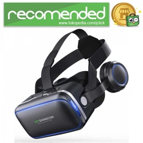 Foto Produk Shinecon 6.0 VR Box Virtual Reality dengan Headphone - Hitam dari JClick