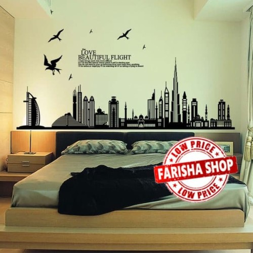 Foto Produk Beautiful Dubai JM7280 - Stiker Dinding / Wall Sticker dari farisha shop