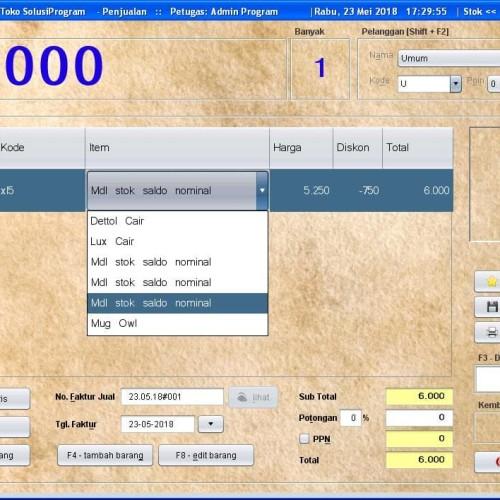 Foto Produk Software Solusi Toko 3.0 - Aplikasi - Program Kasir - POS - Penjualan dari solusiprogramcom