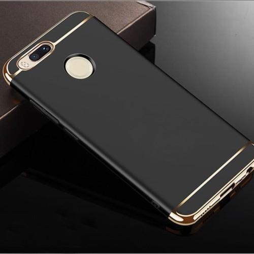 Foto Produk Hard case 3in1 XIAOMI REDMI MI A1 / 5X Luxury Electroplating Matte - Hitam dari XI Official Store