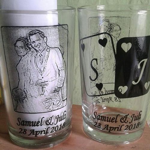 Foto Produk Souvenir gelas murah/gelas H10 bening/Souvenir pernikahan dari purmata souvenir