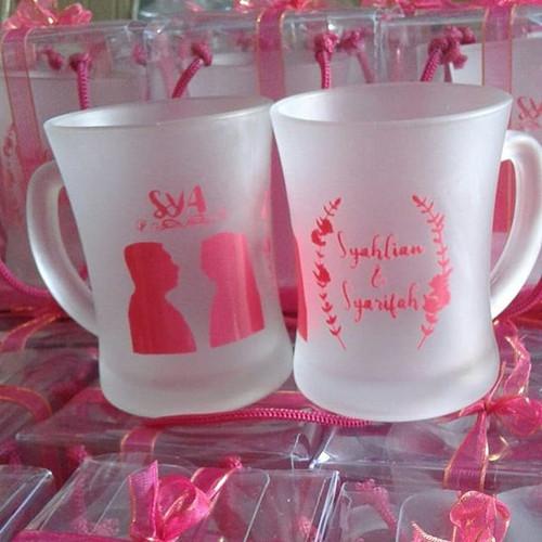 Foto Produk Souvenir gelas murah/gelas CL doff packing mika/souvenir gelas jakarta dari purmata souvenir