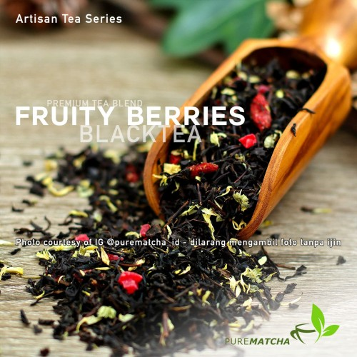 Foto Produk Artisan Tea Cafe - Black Tea Fruity Berries Teh Hitam Rasa Buah 50g dari Pure Matcha