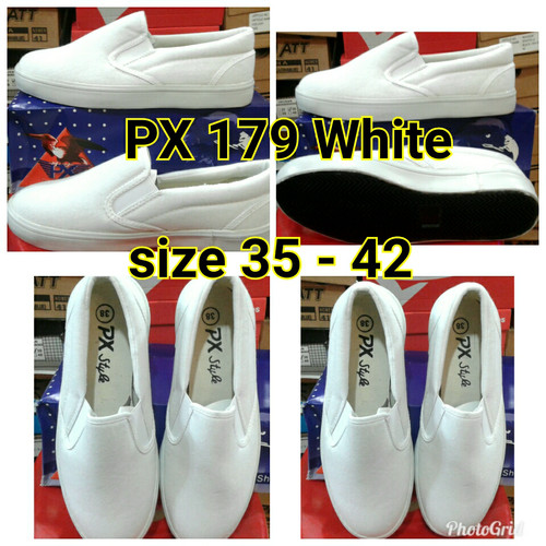 Foto Produk Sepatu px style 179 putih polos/sepatu canvas 179p dari buyung lagi