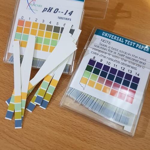Foto Produk Kertas lakmus 100 pcs suncare ph paper 100 strip Universal test paper dari HappyCollection28