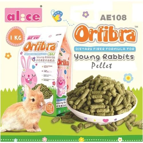 Foto Produk AE108 Alice Orbifra Young Rabbit Food Pellet 1kg Makanan Anak Kelinci - EXP 2021-11-19 dari Hime petshop
