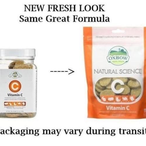 Foto Produk Oxbow Natural Sciense Vitamin C 60ct Vitamin Marmut Kelinci Guinea Pig - EXP 2022-09 dari Hime petshop