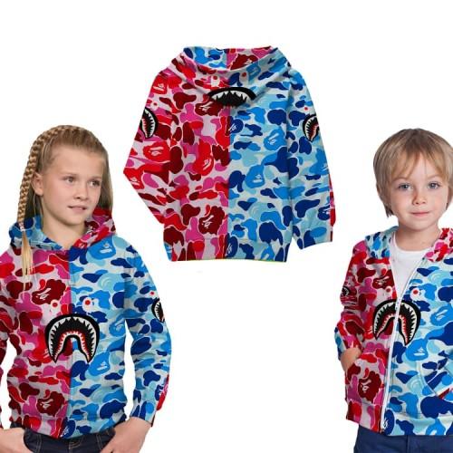 Foto Produk Jaket Sweater Anak Fullprint Custom Bape Shark 01 dari HDCustom