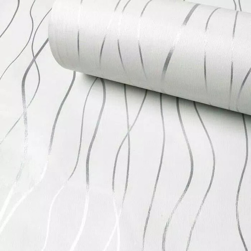 Foto Produk Salur minimalis white 45 cm x 10 mtr ~ Wallpaper stiker dinding dari Wallpaper Bosku