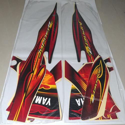 Foto Produk Stiker Bodi & Lis Body & Striping Jupiter Z 2008 Cw Hitam Merah dari Lestari Motor 2