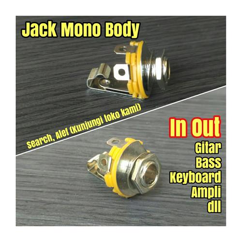 Foto Produk Jack mono body female in output gitar bass colokan jek input out ampli dari Alef