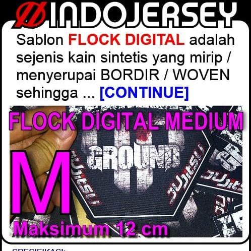 Foto Produk Stiker Baju CUSTOM LOGO FLOCK MEDIUM dari Indojersey Official Store