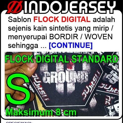 Foto Produk Stiker Baju CUSTOM LOGO FLOCK dari Indojersey Official Store