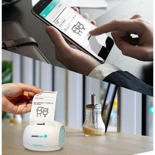 Foto Produk Memobird Smart Mini Printer Thermal Bluetooth POS Portable Printer HP dari Web Com