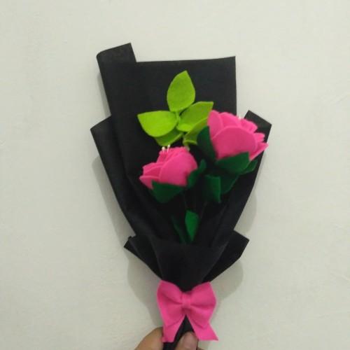 Foto Produk Buket bunga mawar flanel murah - Hijau muda dari yopita craft