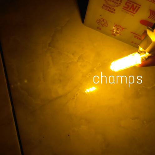 Foto Produk Lampu Senja Motor Mobil Orange T10 Kilometer Sein LED Luminos Sepasang dari Champs