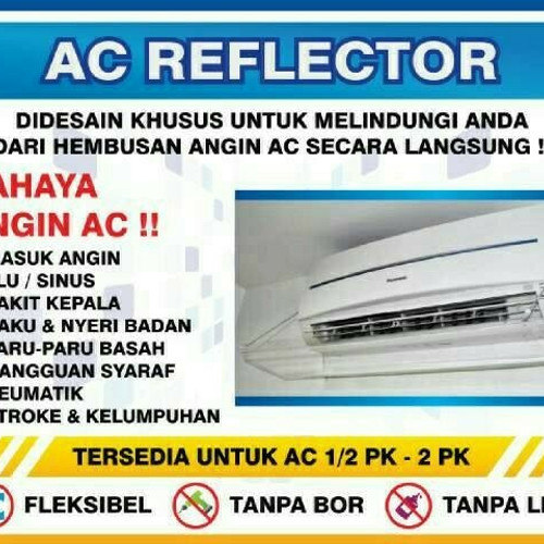 Foto Produk AC Reflector -Akrilik AC - AC Shield - Talang AC - Penahan Angin AC dari Akifa shopp