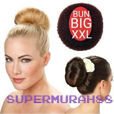 Foto Produk bun hair donut size XXL / hair bun XXL / sanggul / cepolan dari supermurah88
