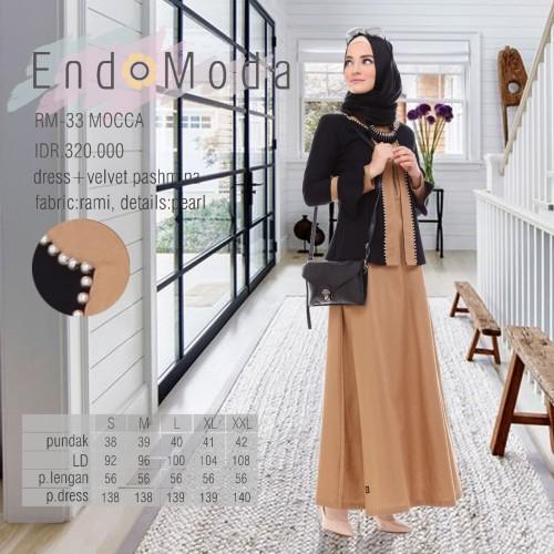 Foto Produk Gamis Endomoda RM 33 Mocca - Cokelat Muda, XL dari assalam busana